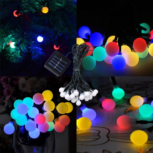 Solar Charge LED String Fairy light Waterproof Outdoor Garden lights Lawn lamp Hoilday Party Christmas Wedding Decoration 1