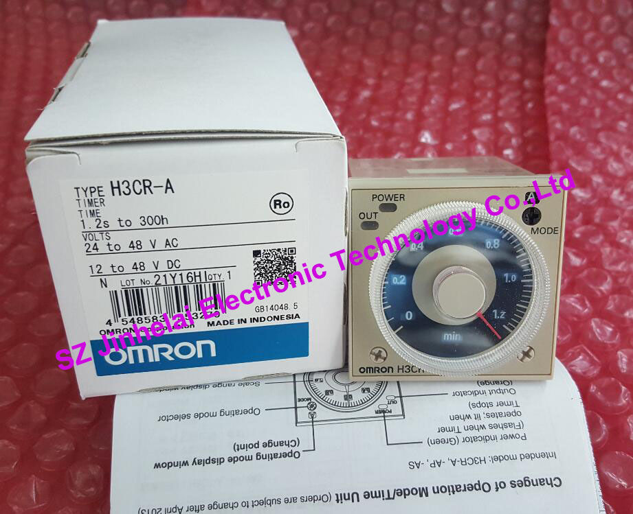 H3CR-A 24-48VAC/12-48VDC New and original OMRON TIME RELAY new original relay h3cr f8 ac220