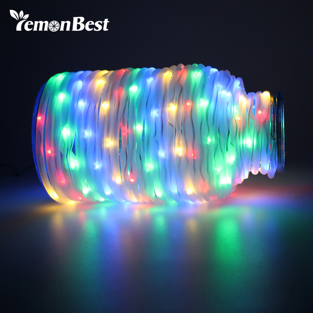 Waterproof 10m 33ft 72 Led Rope Lights String Light 4 Color Fairy Remote Control With 8 Modes Garden Christmas Decoration