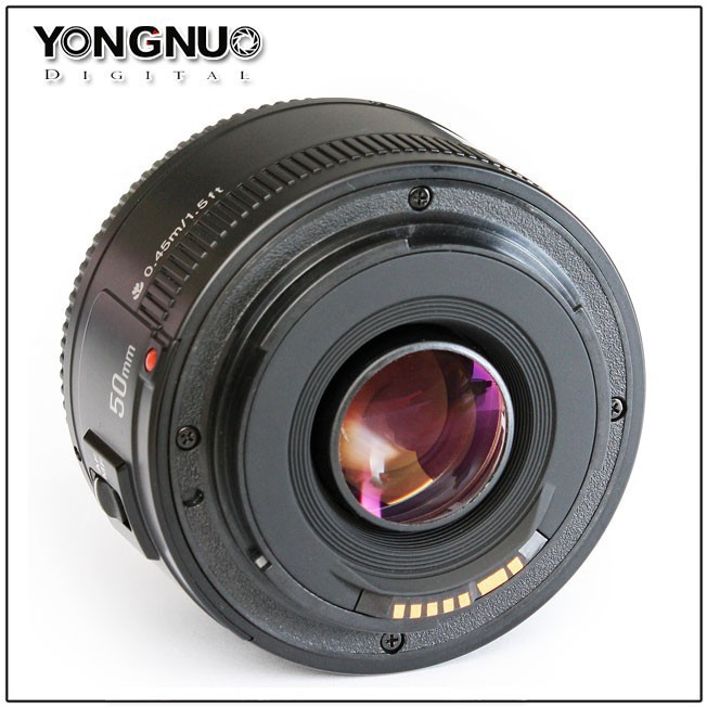 Free Shipping!Yongnuo Lens EF 50mm F/1.8 1:1.8 Auto Focus Standard Prime Lens AF / MF for Canon Rebel Digital Camera