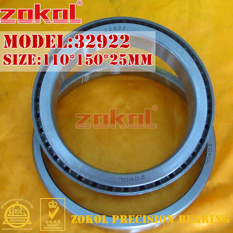 ZOKOL bearing 32922 2007922E Tapered Roller Bearing 110*150*25mm zokol bearing 31310 27310e tapered roller bearing 50 110 29 5mm