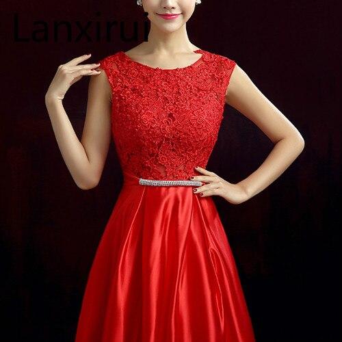 Nouveauté rouge bleu rose violet longueur de plancher dame fille femmes princesse demoiselle d'honneur Banquet fête robe de bal livraison rapide - 4
