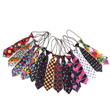 Эластичный галстук для мальчиков и девочек; милый детский галстук для свадебной вечеринки; Модный цветной галстук с принтом для малышей