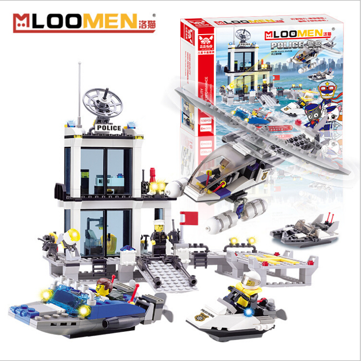 536Pcs City Police Command Center Building Bricks Blocks Boy For Boys DIY Educational Toys For Children military swat cars city police figure building blocks minifigures set christmas gift boys educational toys for children page 2