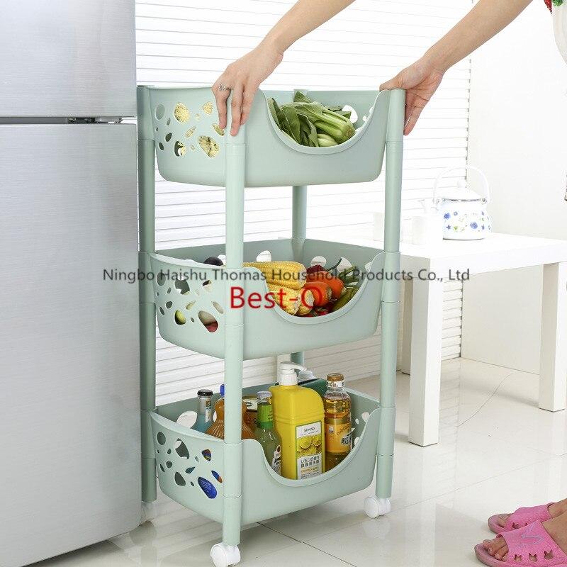Kitchen Vegetable Storage Baskets: Free Shipping Plastic Fruit And Vegetable Kitchen Rack