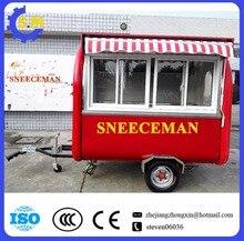 多言語サイト食品自動販売トレーラー車販売のための新携帯レストランアイスクリーム食品トレーラーチップ