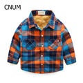 Worst New brand kids boy tops with long sleeve baby boys shirt with plaid and printed shirt child for Winter Kids Outfits 2016
