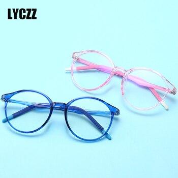 9ce5d0564b LYCZZ 2019 nuevos niños transparente gafas Anti-Luz Azul miopía gafas  marcos niño niña moda claro lente gafas