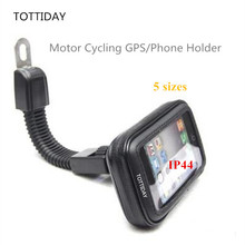 TOTTIDAY Motorcycle Mobile Phone Holder Stand for iPhone X 8 7 6S Plus GPS motor Rear View Mirror Mount holder for galaxy S8 S7
