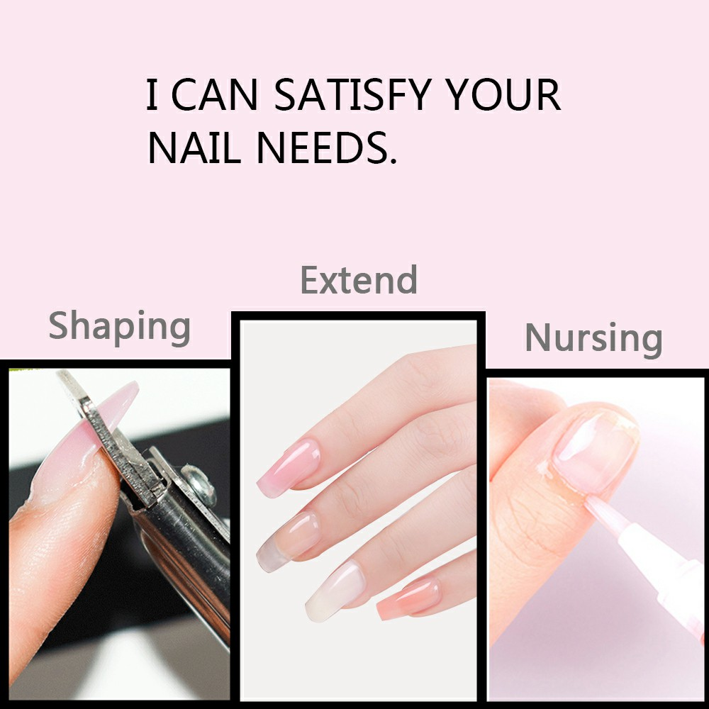 Gelike 60g No Chipping And Fading UV Nail Poly Gel Gel Polish Soak Off Nail Art Gel Polish Gel Nail in Nail Gel from Beauty Health