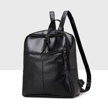 Новинка 2017 года рюкзак Для женщин двойная молния Дамские туфли из PU искусственной кожи Школьные сумки для подростков рюкзаки для Обувь для девочек Mochila Feminina #7541719