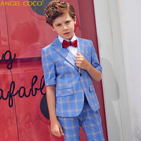 Blazers Boys Suits For Weddings Summer Short Formal Party Suits Evening Child Communion Big Size Teenagers 5 Pieces Garcon