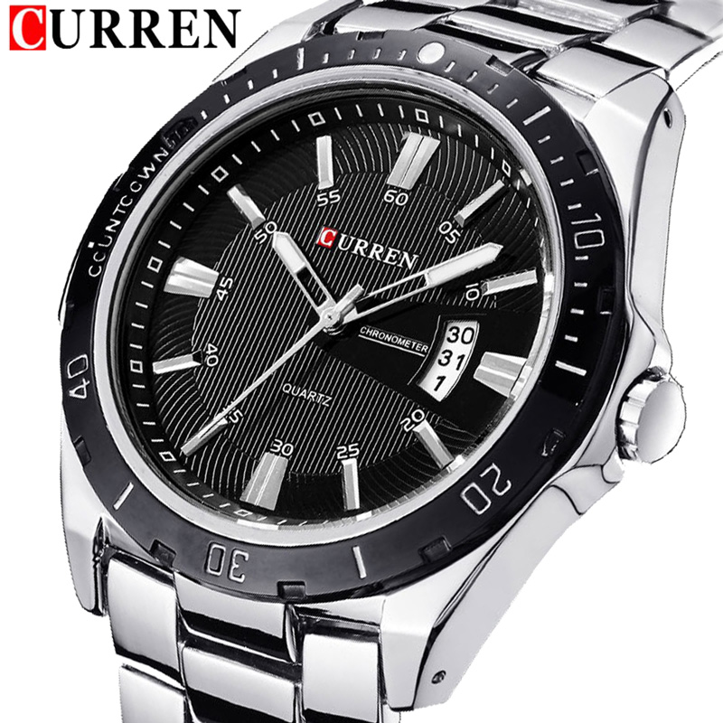 relogio CURREN Top Brand Luxury Mens Watches Male Date Business Clocks Sport Military Clock Steel Quartz Men Watch Gift Hot 8110 curren fashion watches men top brand luxury wrist quartz watch male men sport clock military design casual men s gift clocks