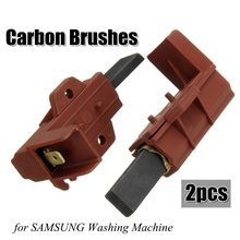 2pcs Washing Machine Motor Carbon Brush And Holder For SAMSUNG Ariston Indesit Welling(China)