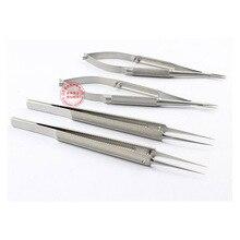 Микроскопические приборы 12.5 см 4 компл. Иглодержатель Micro ножницы Микрохирургических щипцы