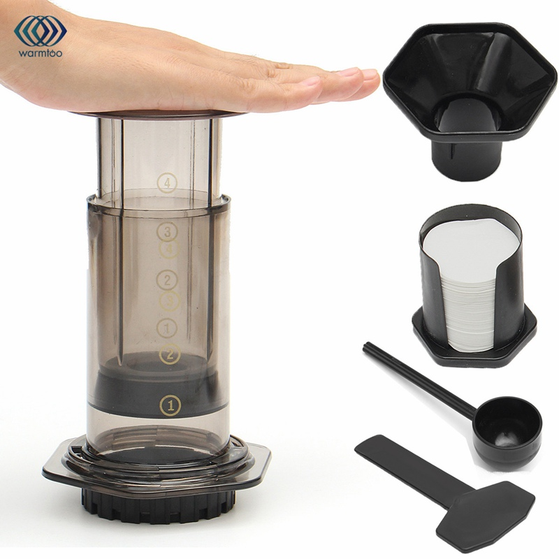 Coffee Maker Pot French Portable Hand Pressure Machine Coffee Grinders 350 Filter Paper Easy to Clean Travel Household купить дешево онлайн