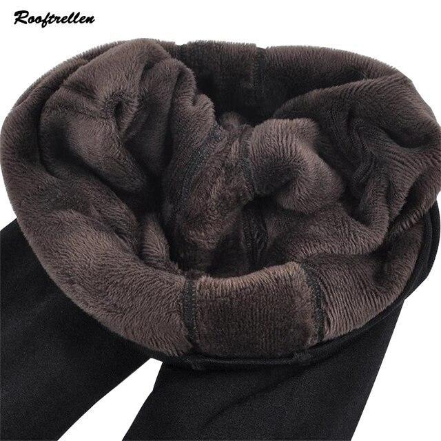 Rooftrellen Hot 2018 nowy moda damska jesień i zima wysoka elastyczność i dobra jakość grube aksamitne spodnie ciepłe legginsy