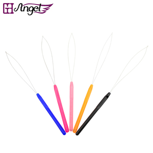 Image 1 - 720 個引っ張るループ針、ヘアエクステンションのための種類マイクロビーズ羽ツールループ針、ヘアエクステンションツール