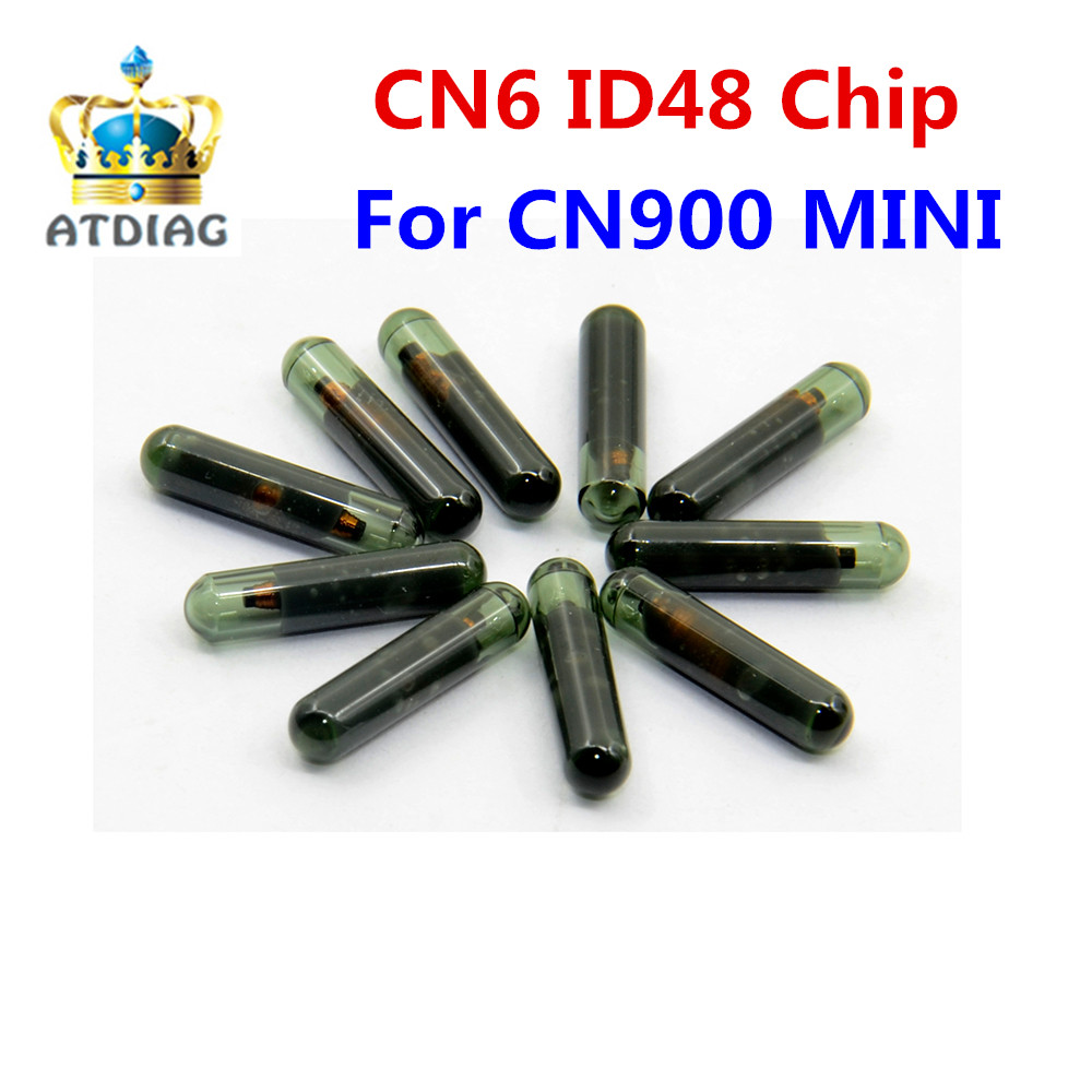 10pcs lot CN6 ID48 Car Transponder Glass Blank Cloner Chip Use for CN900 ND900 MINI Key