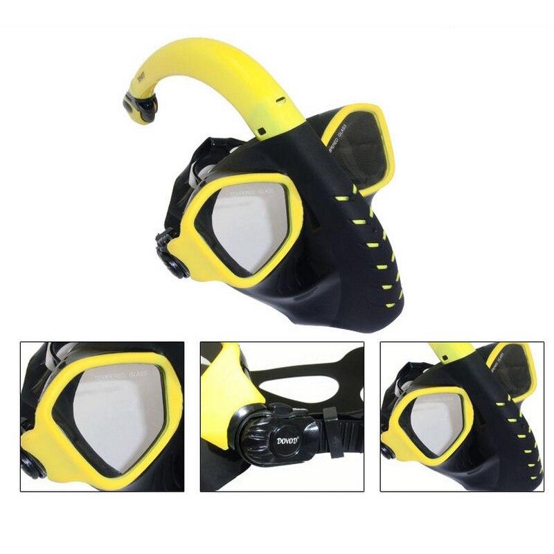 Plein Sec Plongée Masque Plongée En Apnée Masque de Silicone Plongée Maske Mascara Buceo Plein Visage Masque Tuba Plongee Nager Masque Pour Adulte - 3