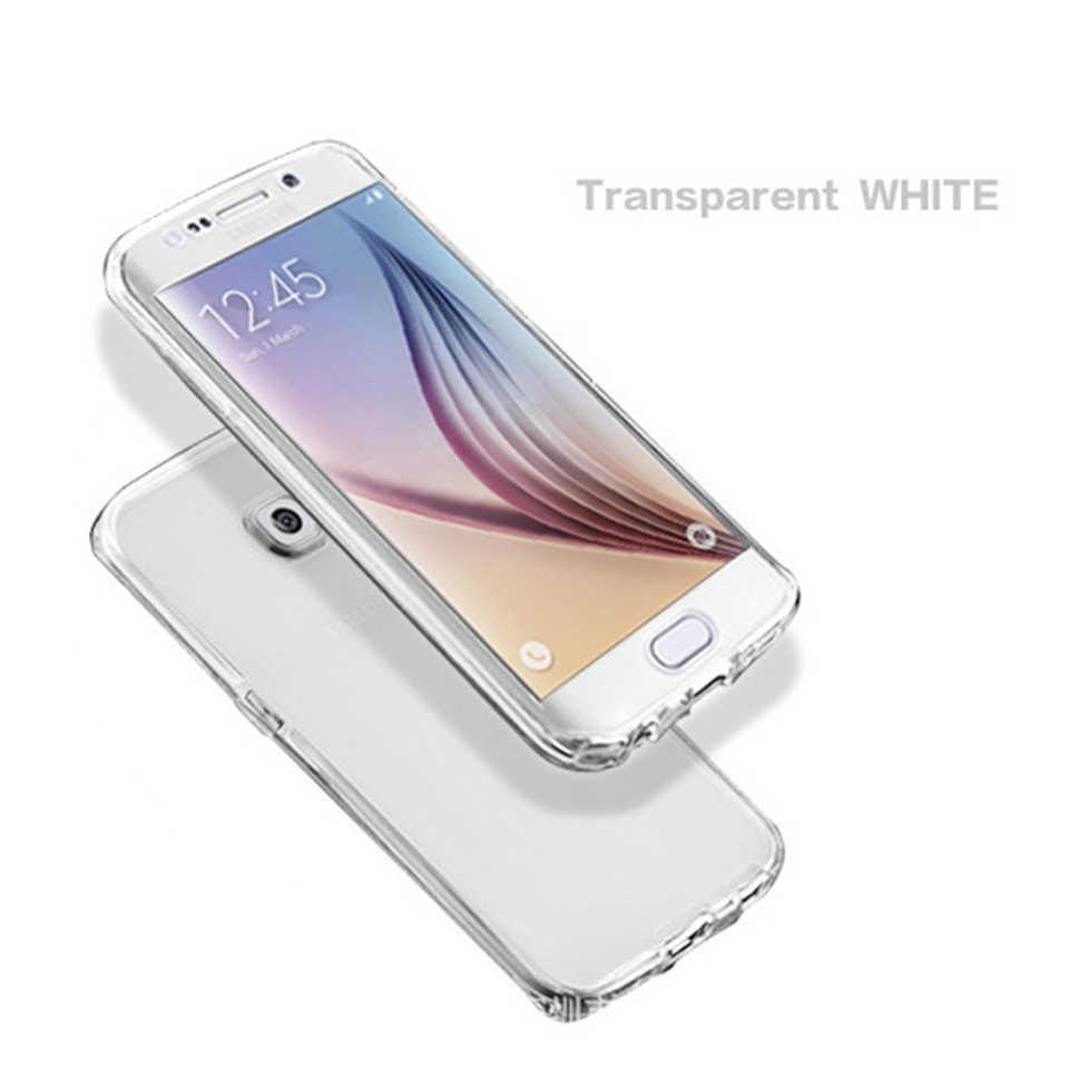 Caja clara del teléfono suave para Samsung Galaxy Note9 8 A6 A8 más J6 J4 J8 2018 A3 A5 A7 J5 j7 2016 2017 Neo primer de la cubierta completa