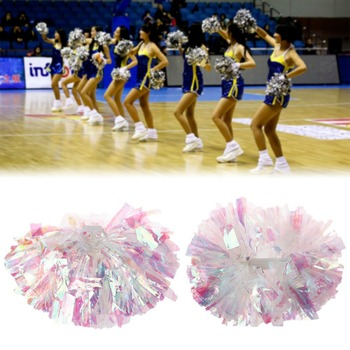 1 PC Game pompoms Cheap practical cheerleading pom poms Apply to sports match and vocal concert Color can free combination