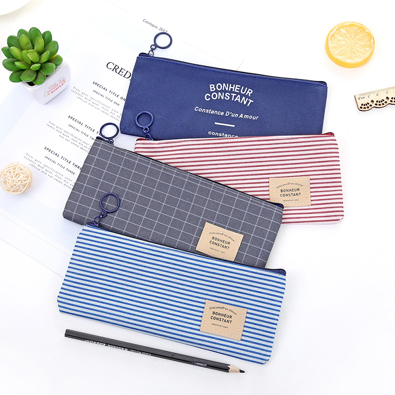 Kawaii Canvas Pencil Case Office Student Pencil Cases Kalem Kutusu School Supplies Pen Box Astuccio Scuola