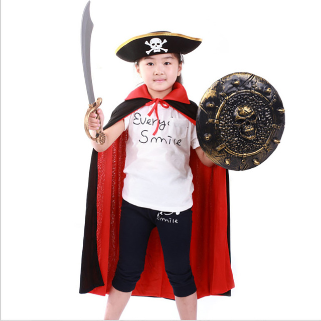 Halloween Gruppo.Us 14 01 6 Di Sconto Bambini Halloween Divertente Pirata Eroe Mantello Ragazzi Gruppo Del Partito Del Costume Superman Cosplay Outfit Reversibile