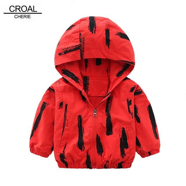 d30ea25e5b22 CROAL CHERIE 80 130cm Hooded Kids Jacket For Boys Red Black Cool ...