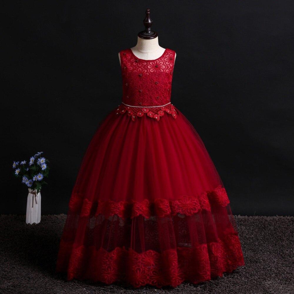 2019 été mode enfants robe princesse robes de mariée filles fête d'anniversaire pour 4 5 6 7 8 9 10 12 ans filles vêtements
