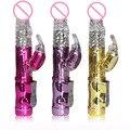 36 Velocidade Coelho Jack USB Vibradores para As Mulheres Máquina de Sexo, Contas de rotação Massageador Empurrando Pênis brinquedos Sexuais para o Sexo Feminino