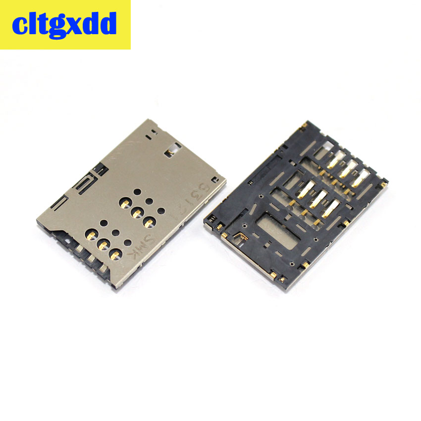 cltgxdd 1pcs New Sim Card tray For <font><b>Sony</b></font> Xperia U St25i <font><b>St25</b></font> Sim Card slot For <font><b>Sony</b></font> <font><b>st25</b></font> st25i x5 x5i card reader connector part image