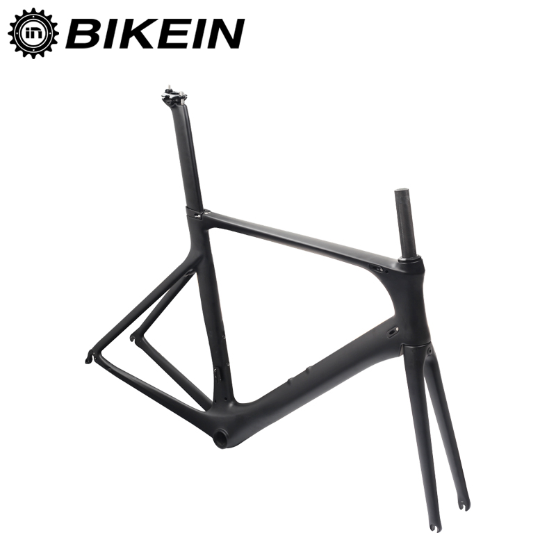 BIKEIN T800 Full UD Carbon Road Bicycle Frame + Fork Matte Black BB92 Cycling Road Bike Parts 47.5/50.5/53/56cm Ultralight 1200g bikein full ud carbon cycling road bike handlebar 400 420 440mm triathlon bicycle parts ultralight drop bar matte black 280g