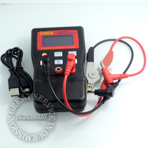 MLC500 High precision AutoRanging LC Meter inductor and capacitor Meter 1% accuracy 500KHz test Connect PC storing