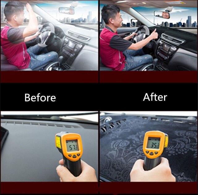 For Honda Fit Shuttle 2011 2012 2013 2014 Dashboard Cover Mat Pad Dashmat Sun Shade Dash Board Instrument Carpet Car Accessories 5