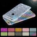 20 pçs/lote luxo bling glitter adesivo decalque de corpo inteiro para o iphone 4/5s/6/6 s/6 plus phone cases capa protetora film 10 cores