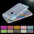 20pcs/Lot Luxury Bling Full Body Decal Glitter Sticker for iPhone 4/5S/6/6S/6Plus Phone Cases Cover Protective Film 10 Colors