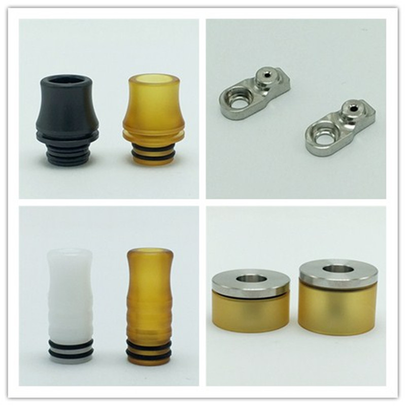 Dvarw Style MTL RTA Atomizer Accessories AFC Tight/Normal/Chimney Kit 510 PEI Drip Tip