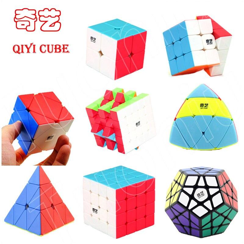 QIYI 2x2 3x3 4x4 5x5 Magic Puzzles Cube Set SQ1 Skewb Mirror Blocks Speed Professional Cubes