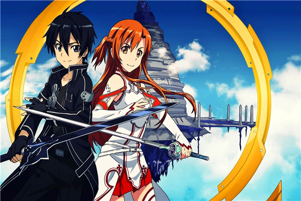 Custom Canvas Posters Anime Sword Art Online Game Poster Sky SAO Wallpapers Sword Art Online Wall Stickers Home Decoration #406#