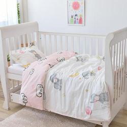 Mit Füllung rosa elefant weiche baby bettwäsche set infant Jungen mädchen Krippe Bettwäsche set für mädchen unpick und waschen, duvet/Blatt/Kissen