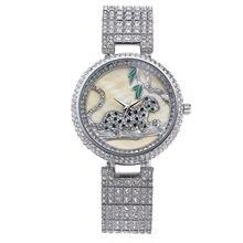 NOBDA Luxury Fashion Swan Ceramic Watch brand gold Rhinestones women wrist quartz watch waterproof female clock