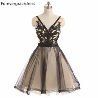 Forevergracedress Original Photo Short Mini Prom Dress New Fashion V Neck Tulle Homecoming Party Dress For