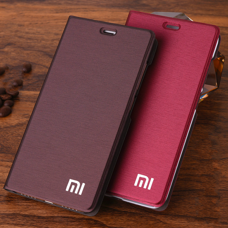 New Arrive For Xiaomi Redmi 4X Phone Case Luxury Slim Style Flip Leather Case For Xiaomi