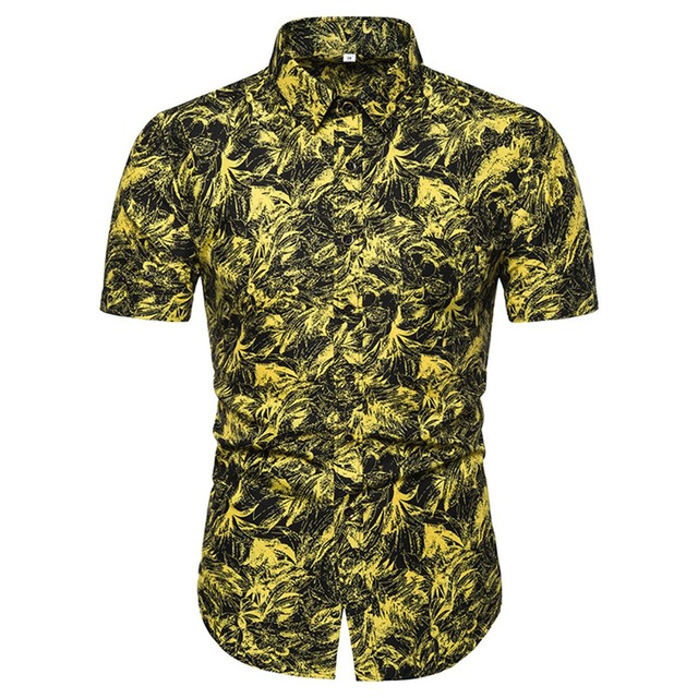 Men's Casual Short Sleeve and Slim Fit  Shirt