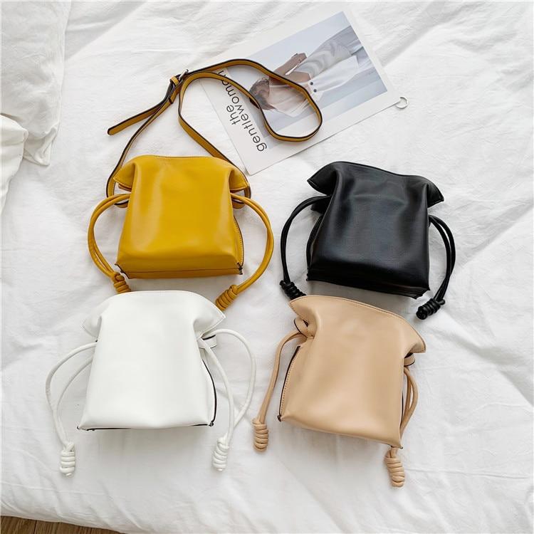 Newest Fashion MINI Bucket Bag Mansur Women Split Leather MINI Shoulder Bag, Gavriel Lady Leather Cross Bag, Freeshiping