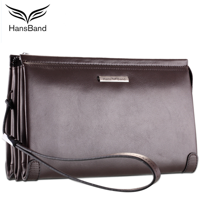 HansBand Luxury Brand Real Leather Men Clutch Wallets Big Capacity Phone Bag Cowhide Wallet Fashion Men Wallet Retro Male Purse цена 2017