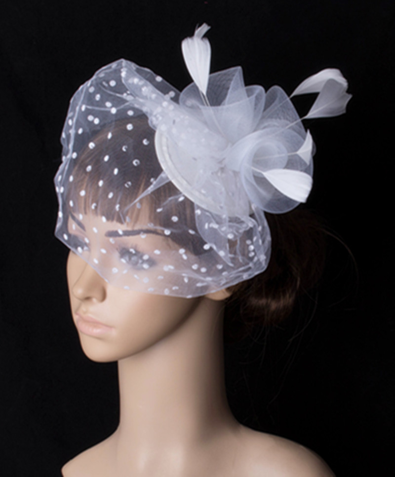 Múltiples color clásico crinolina fascinator accesorio del pelo headwear  colorido de malla de barras t,