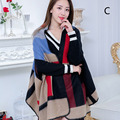 High quality Autumn winter thicken sweater women 19 colors Flower pattern cashmere sweater V-neck cape outwear  female cardigan