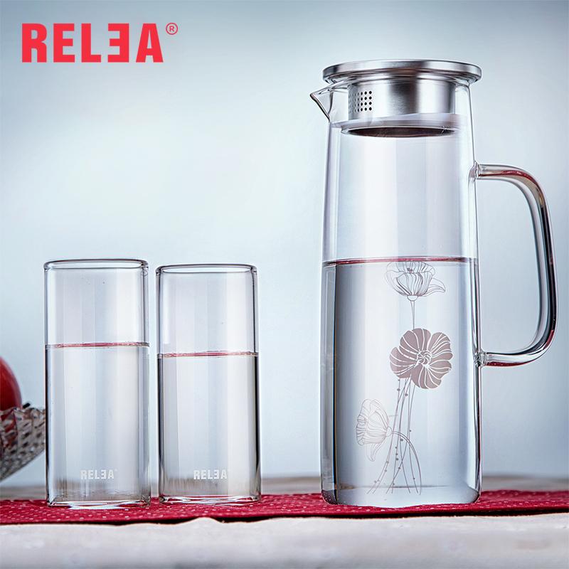 relea jarra de agua resistente al calor vidrio recipiente de agua fra de gran capacidad
